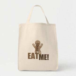 EAT ME! Gingerbread Man - Brown Sepia Bags