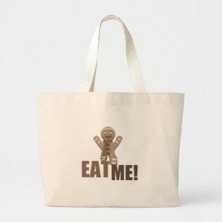 EAT ME! Gingerbread Man - Brown Sepia Canvas Bag