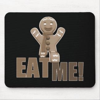 EAT ME! Gingerbread Man - Brown Sepia Mouse Pad