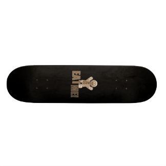 EAT ME Gingerbread Man - Brown Sepia Custom Skateboard