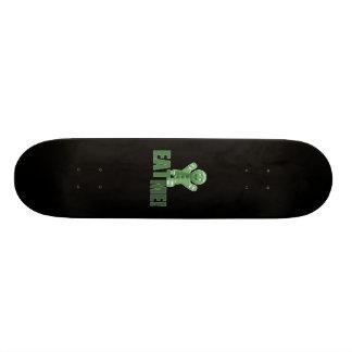EAT ME Gingerbread Man - Green Skate Board Decks
