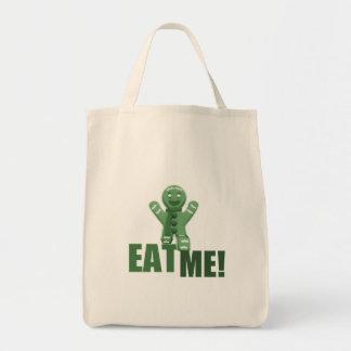 EAT ME! Gingerbread Man - Green Tote Bag