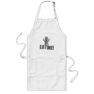 EAT ME! Gingerbread Man - Grey B&W Apron