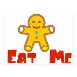 Eat me Gingerbread man Holiday Humor Postcard