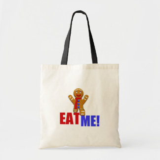 EAT ME! Gingerbread Man - Original Colors Canvas Bags