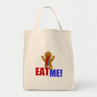 EAT ME! Gingerbread Man - Original Colors Canvas Bag