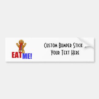 EAT ME! Gingerbread Man - Original Colors Bumper Sticker