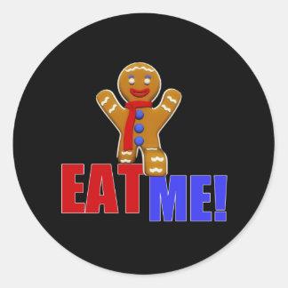 EAT ME! Gingerbread Man - Original Colors Classic Round Sticker