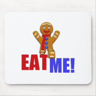 EAT ME! Gingerbread Man - Original Colors Mouse Pad