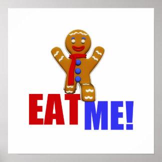 EAT ME! Gingerbread Man - Original Colors Print