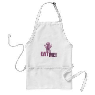 EAT ME! Gingerbread Man - Pink Apron