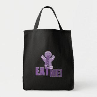 EAT ME! Gingerbread Man - Purple Canvas Bags