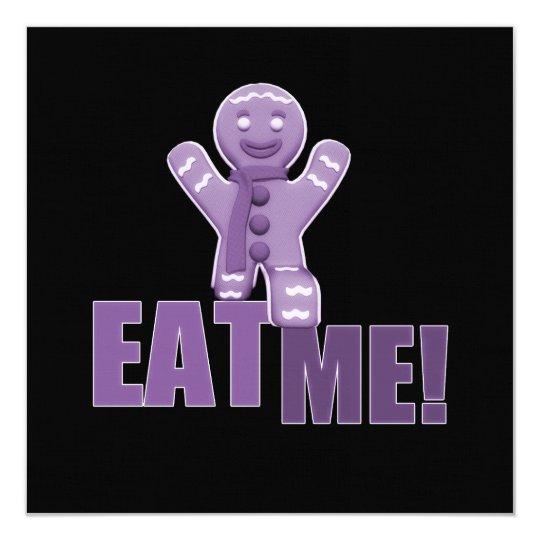 EAT ME! Gingerbread Man - Purple Card