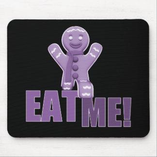 EAT ME! Gingerbread Man - Purple Mouse Pad