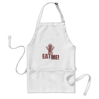 EAT ME! Gingerbread Man - Red Adult Apron