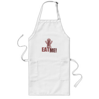 EAT ME! Gingerbread Man - Red Long Apron
