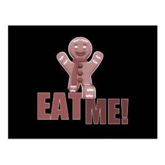 EAT ME! Gingerbread Man - Red Postcard
