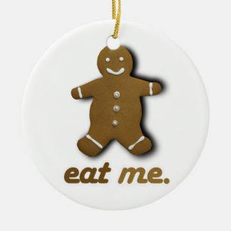 EAT ME GINGERBREAD -.png Christmas Tree Ornament