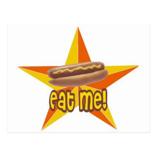 Eat Me Hot Dog Postcard