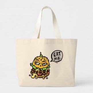 Eat me large tote bag