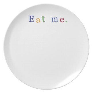 """""""Eat me."""" line Dinner Plate"""