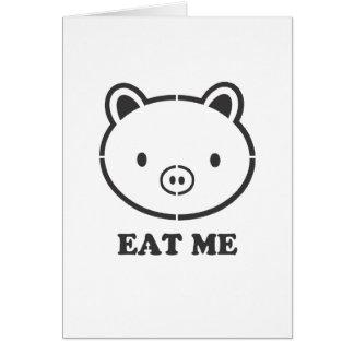 Eat Me Pig Card