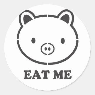 Eat Me Pig Classic Round Sticker
