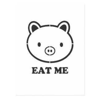 Eat Me Pig Postcard