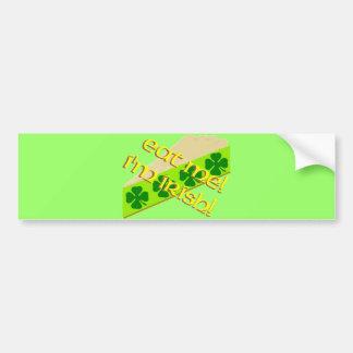 Eat Me Shamrock Pie Bumper Sticker