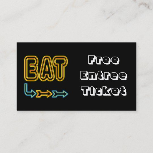 Eat meal ticket custom business card template zazzle eat meal ticket custom business card template fbccfo Images