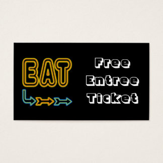 Eat Meal Ticket Custom Business Card Template