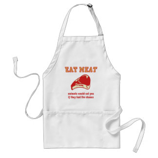 Eat Meat Animals would eat you if they could Adult Apron