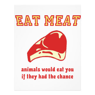 Eat Meat Animals would eat you if they could Flyer