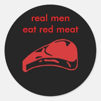 eat meat large sticker