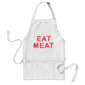 Eat meat meaty text adult apron