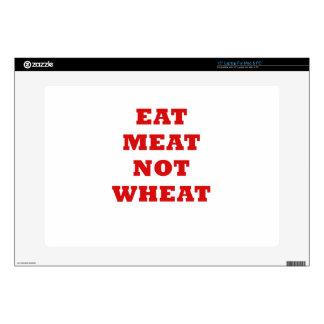 Eat Meat Not Wheat Laptop Skin