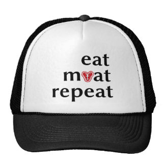 Eat meat repeat funny carnivore hat