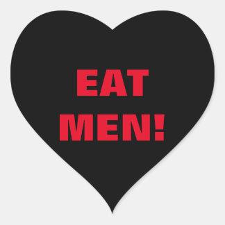 EAT MEN! HEART STICKER