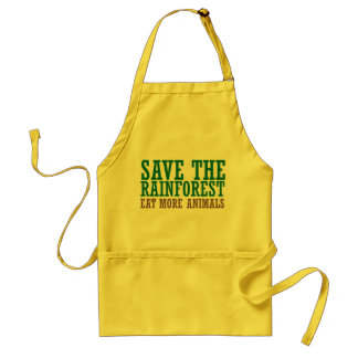 Eat more animals adult apron