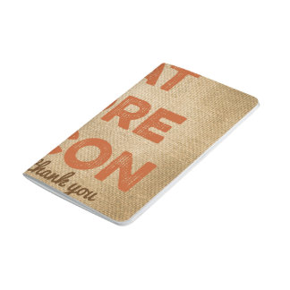 Eat More Bacon Burlap Background Journal