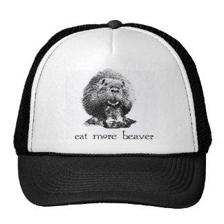 eat more beaver trucker hat