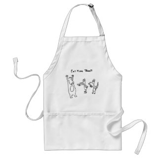 Eat More Beef Hold Up Adult Apron