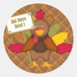 Eat More Beef Thanksgiving Sticker