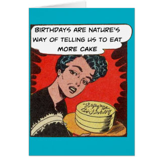 Eat More Cake - Birthday Card