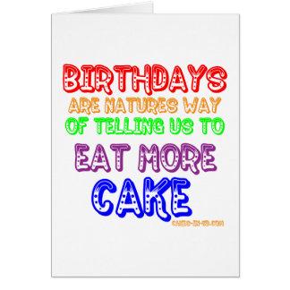 Eat More Cake! Card