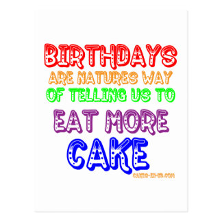 Eat More Cake! Post Cards