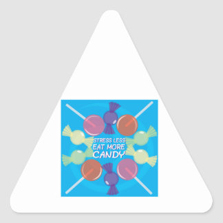 Eat More Candy Triangle Sticker
