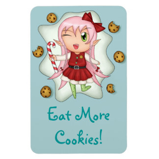 """Eat More Cookies!"" Christmas Cookie Fairy Magnet"