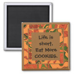 eat more cookies fridge magnets
