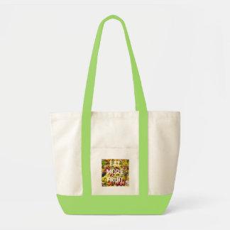 Eat more fruit canvas bag